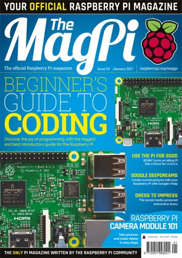 MagPi Issue #53 is Fantastic for an Intro To Python